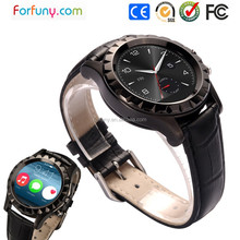 High-end bluetooth smart watch with round touch screen/heart rate monitor/waterproof