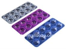 10 cups silicone diamond shape ice cube tray