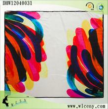 queues d'impression colorees echarpe de soie de la mode 2013
