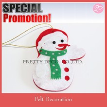 2015 new padding Christmas Snow man shaped, filling felt christmas decoration