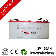 high capacity standard car battery dimensions 12V 120AH JIS: Jananese Standard