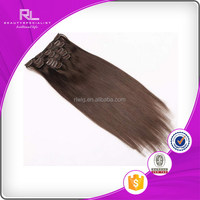Cheap latest kinky straight clip in hair extension