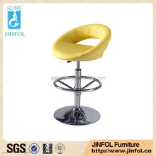 Adjustable modern style Swivel pvc steel bar chair bar stool for sale