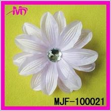 Artificial jasmine silk flower heads rhinestone center flower fabric MJF-100021