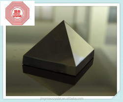 2015 high quality Natural Rock Black Obsidian Pyramid for Decoration