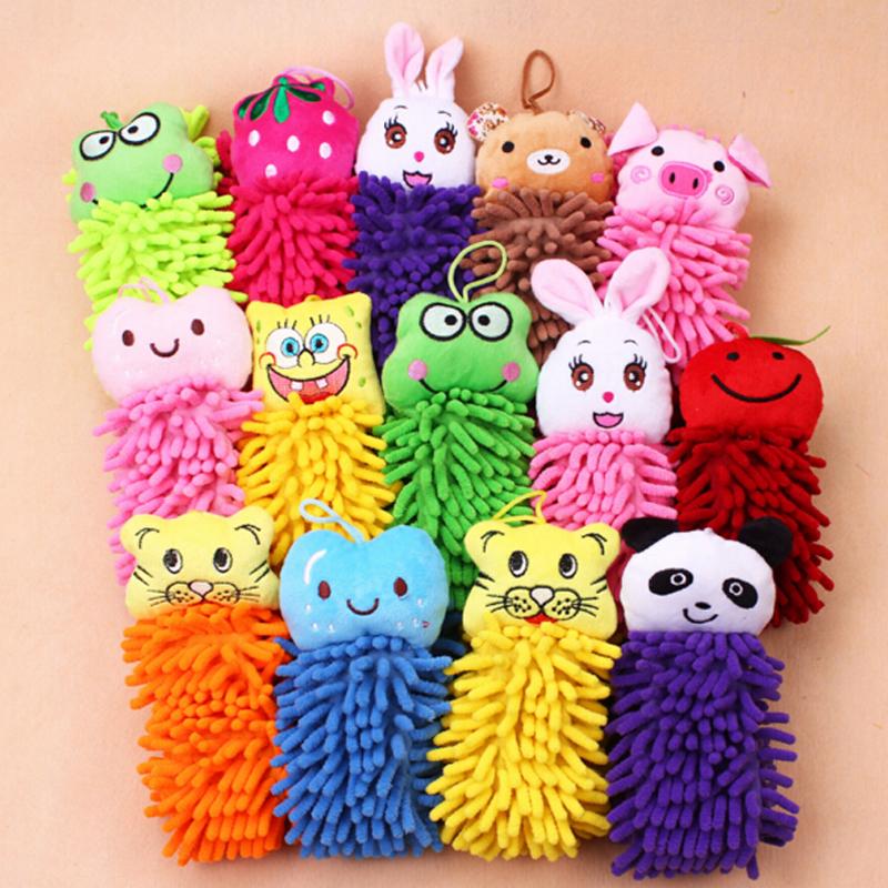 Best selling colorido bonito forma dos desenhos animados casa usada crianças toalha de mão