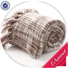 100% cotone patchwork coperta a maglia, 100% cavo maglia di cotone letti...