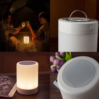 2016 portable mini touch lamp bluetooth speaker led