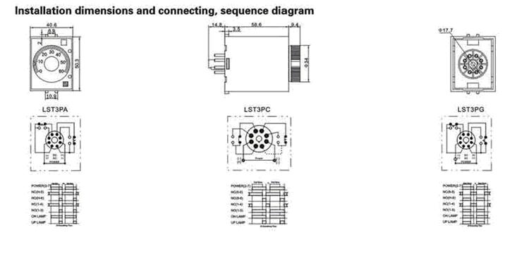 st3p series ac dc 12v 48v 220v digital electrical timer switch