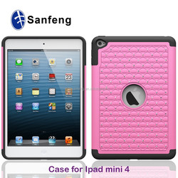 Promotion phone case personal use smart cover for ipad mini 4 Diamond stylish