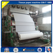 GM -T 1880mm 5 ton/day waste paper recycle Toilet tissue Paper jumboo roll making Machine in high quality & economical price