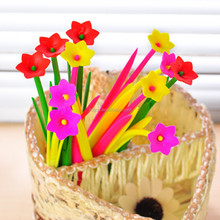 Creative Product Hot Sale Cheap Flower Shape Gel Pen