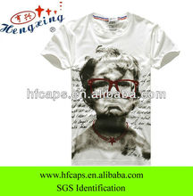 Wholesale custom cotton hot fashion baby white full print t shirt