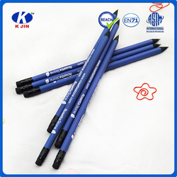 7 inch two-color printing cheap wholesale black natural wood pencil