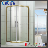 Enclosed shower room with locker room shower