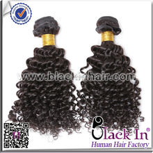 Bleachable And Dyeable 100% human afro kinky braiding hair weft / indian remy 8-30inch