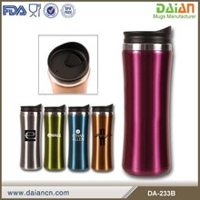 Best double wall 14oz stainless steel travel mugs with screwed lids