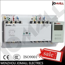 100A 3 phase ats with English controller generator isolating switch