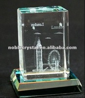 3D Laser Engraved UK London Souvenirs Crystal Souvenirs With Base Crystal Gifts