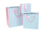 New fancy custom logo printed make paper gift bags