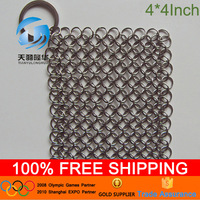 4*4inch AISi 316L Iron cast pot scrubber cleaning
