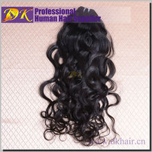 Unprocessed remy human 8 inch virgin remy indian human natural wave hair weft
