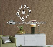 Reloj de pared de acrílico modelos tema negro acrílico decorativo reloj de pared lindo del niño de la