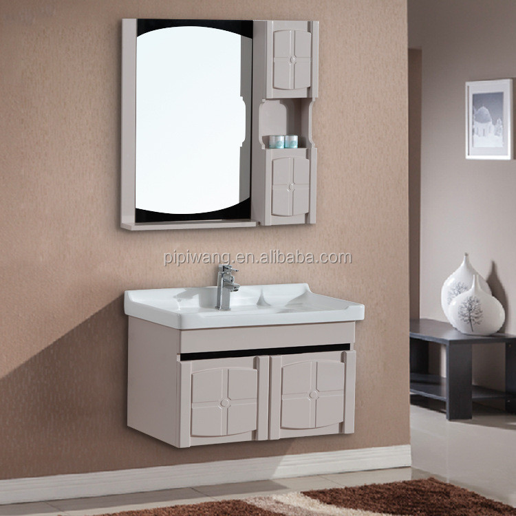 Xuancheng modern new wall hang pvc bathroom cabinet for Bathroom pictures to hang on wall