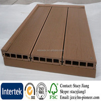 Barefoot Wood Plastic Flooring Hollow Tongues And Grooved Composite Decking