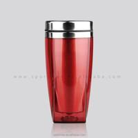 changeable insert paper BPA free double wall bulk plastic coffee mug