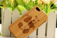 Cute Panda Bamboo Cell Phone Cover Right Open Case for iphone5