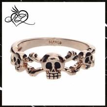 Stainless Steel 316L Mens Skull Ring Heavy Solid Bikers Jewelry skull ring men