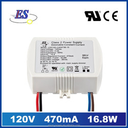 16.8W 470mA AC-DC Constant Current waterproof LED Driver with Triac Dimmer (FCC UL & CUL IP65),triac dimmable led driver