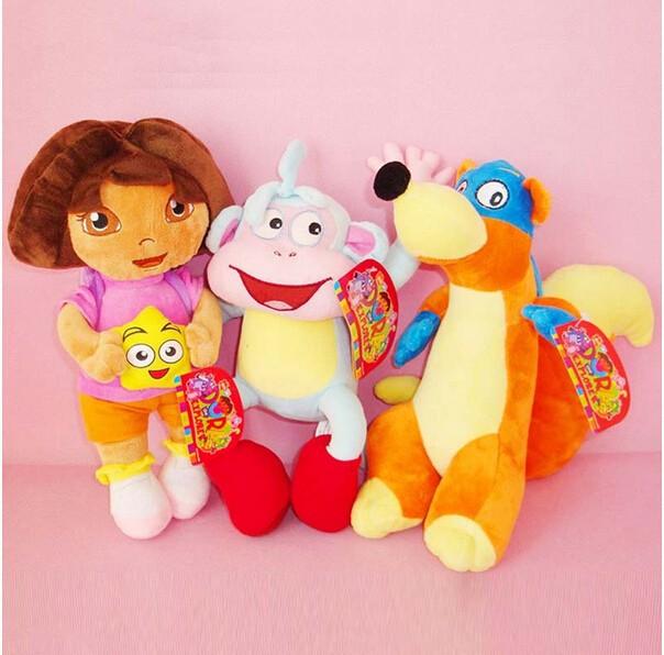 3шт/много 32cmdora + 32cmboots + 32cmfox Дора исследователь приключений игрушки для детей подарок