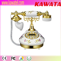 Cheap luxurious antique decorative corded telephone with caller id display