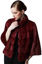 Luxury Mink Fur Coat Women Elegant Fur Coat for Party and Date