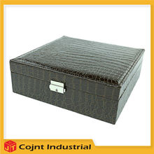 reasonable price professional printing compact make up cosmetic PU leather box cases