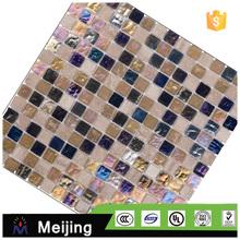 Modern house hot melt mix size glass mosaic for wall cladding alibaba China