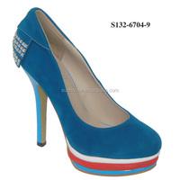 low price blue diamond girls high heel platform shoes for kids