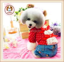 so lovely Lace bowknot dolls unlined upper garment dog cat clothes Puppy pet
