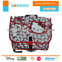 2014 hello kitty fashion shoulder school bags, hello kitty messenger laptop bags