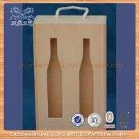 New Design Unfinished Cheap Wholesale 2 Bottle Wood Wine Box