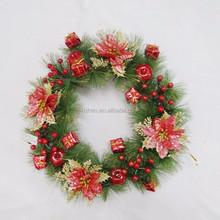 New design hot sale wholesale artificial christmas wreaths decorations