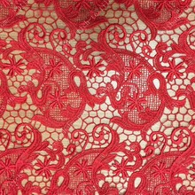 2015 new design brocade embroidery fabric S1286