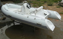 12.8ft RIB390C hypalon inflatable boat with CE 40HP outboard engine