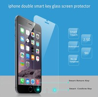 Ultra-thin 9H 2.5D Curved Edge Smart Touch Tempered glass screen protector for iPhone 6 4.7 inch with display retail package