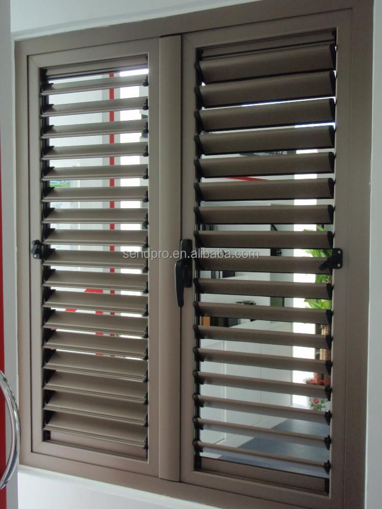 Removable shutter pieces of aluminium jalousie windows for Jalousie window design