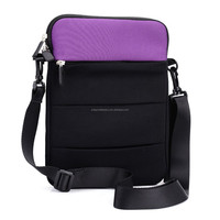 factory price best quality 13inch neoprene laptop sleeve case with removable strap and pocket