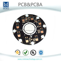 Double sided PCB with OSP Finishing and Black Soldermask, SMT for pcb assembling