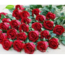 FLS08-1 GNW latex artificial flowers wholesale red rose weddins single flowes with high qualityg flower for party decoration